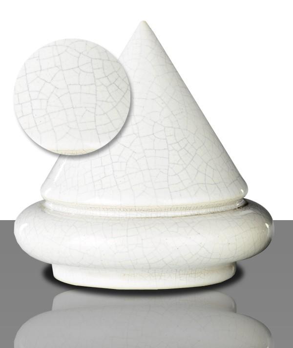 Flüssigglasur 1095 Weiß craquelée, glänzend